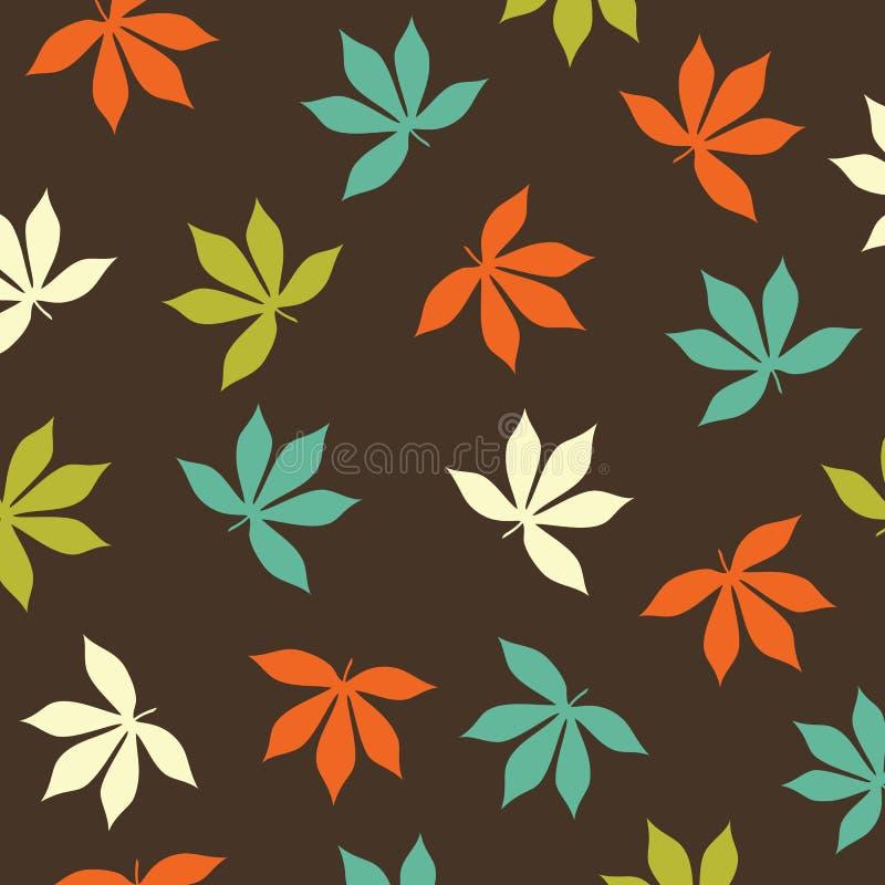 Print Abstract Leaves Cream blue green orange vector pattern vector illustration