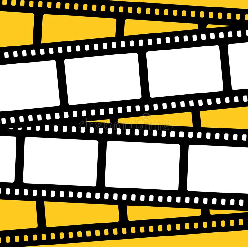Vector clapboard for cinema. frame film and slate have space for text. royalty free illustration