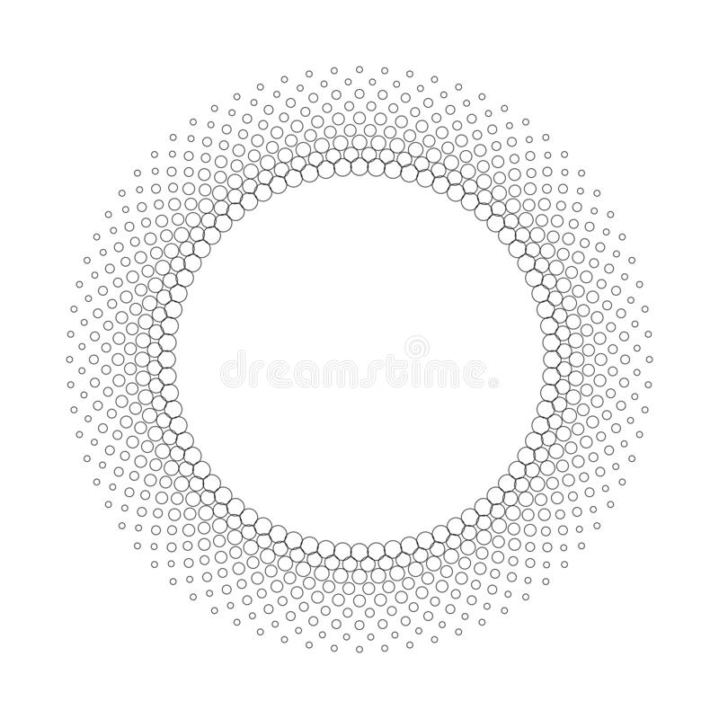 Abstract halftone outline border, vector dotted frame illustration vector illustration