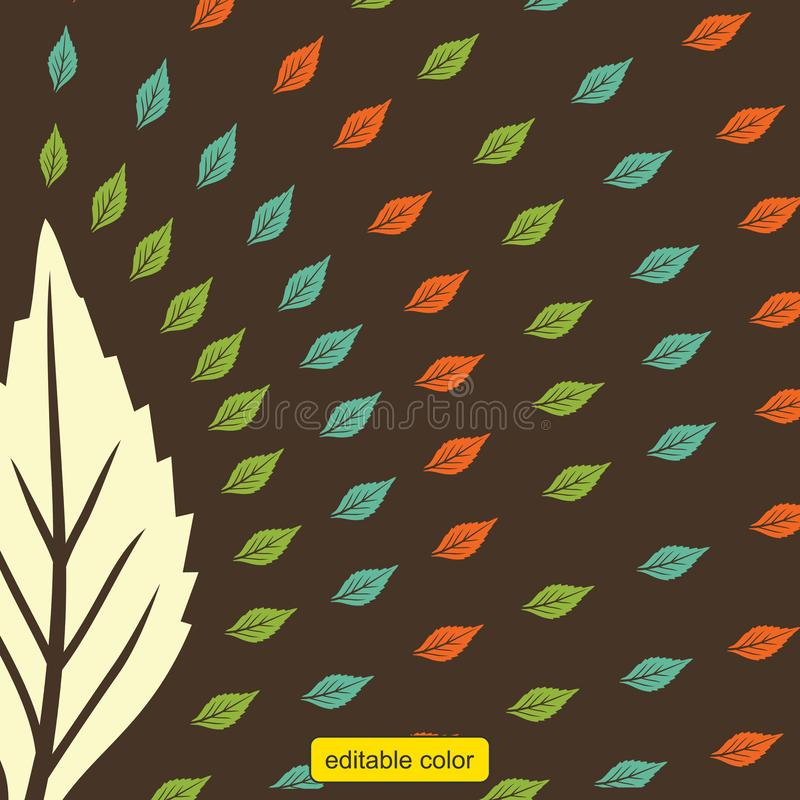 Print pattern leaf color vector vector illustration