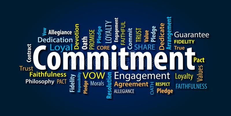 Commitment Word Cloud royalty free illustration
