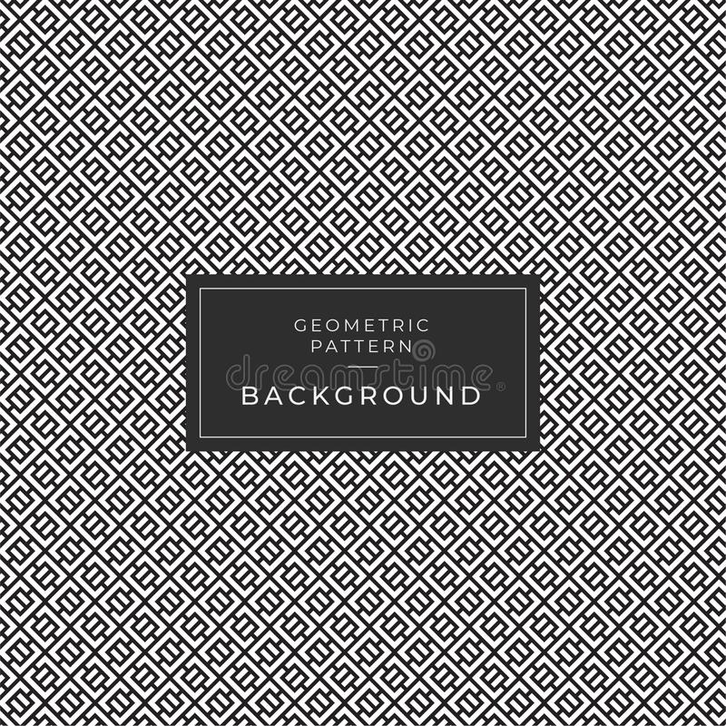 Modern Geometric Monochrome Tile Pattern Background vector illustration