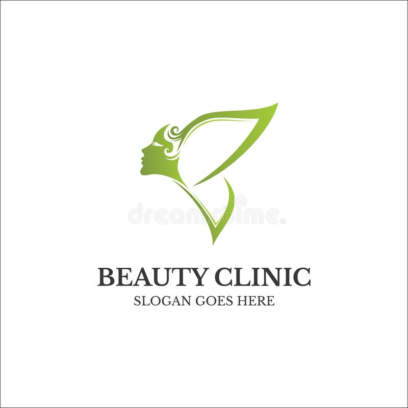 Beauty butterfly logo, salon and spa logo concept. Beauty butterfly logo, salon and spa logo concept stock photography