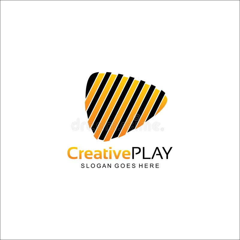 Creative play logo design royalty free stock photography