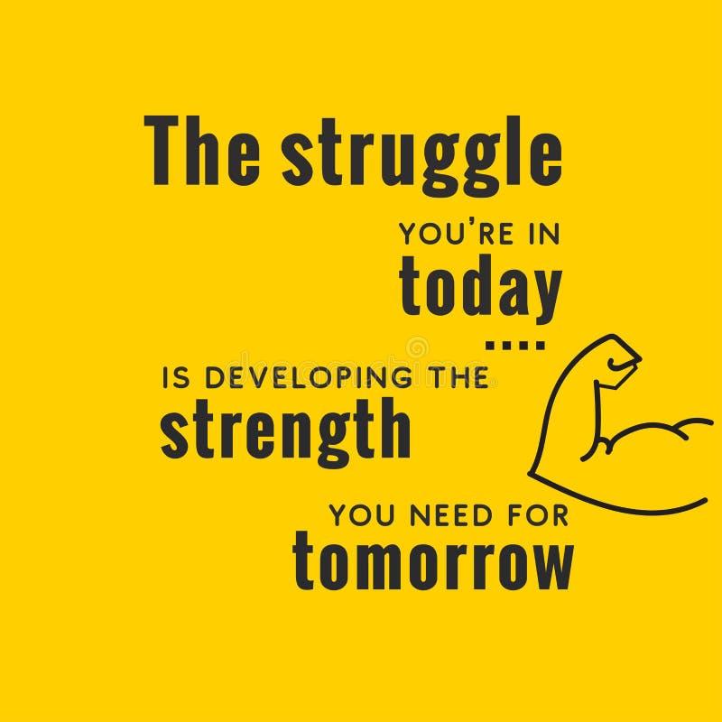 Creative Inspiring Motivation Quote Vector modern yellow background stock illustration