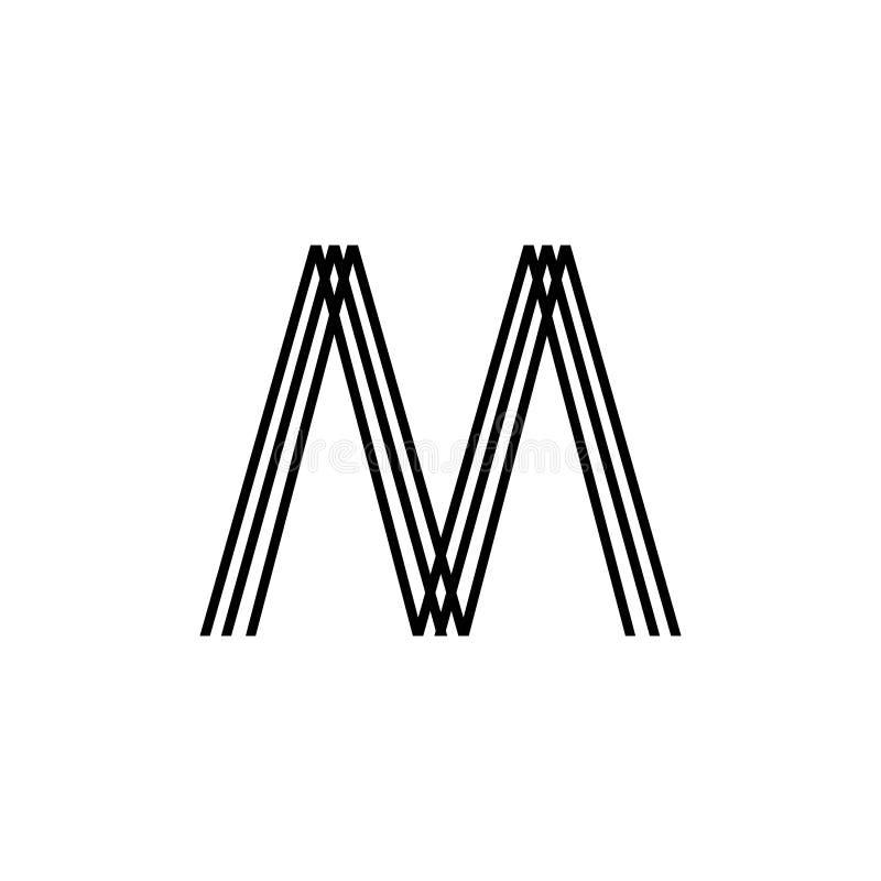 Initial Letter M Logo Template Design royalty free illustration