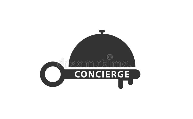 Concierge bell key service icon royalty free illustration