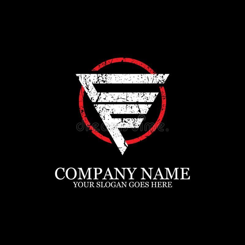 Initial of CF letter logo Design Inspiration, sport and fitness logo template stock illustration