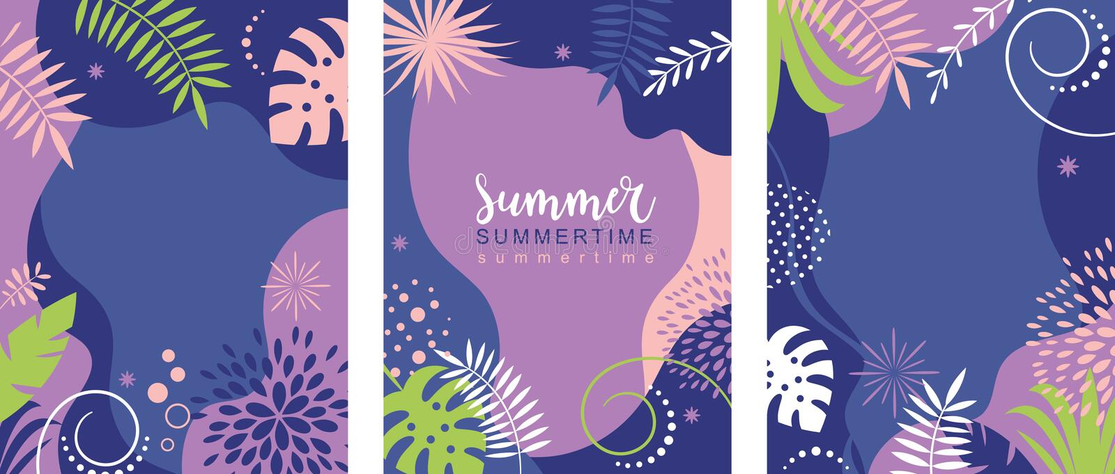 Set of abstract background banners designs vector illustration