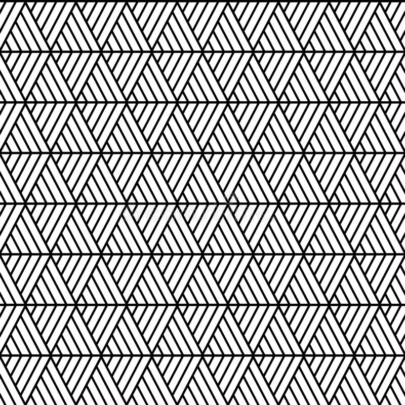 Vector seamless triangles pattern maori, ethnic, japan style. Modern style texture. Repeating geometric tiles from striped triangl royalty free illustration
