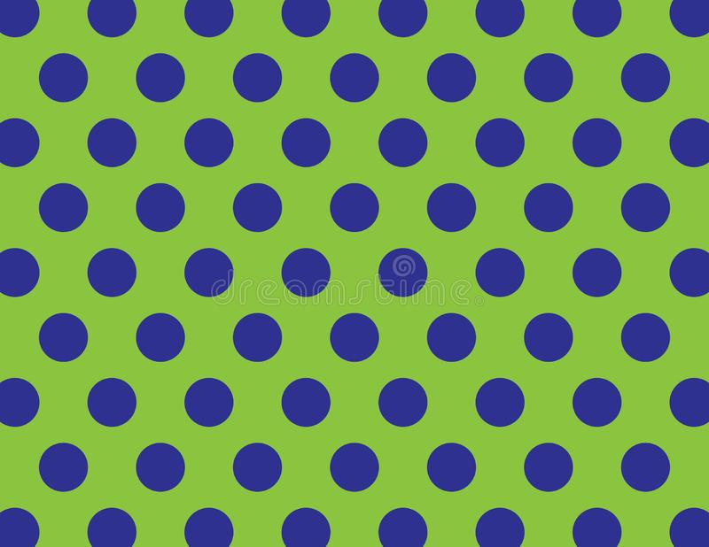 Green and Blue Polka Dot. S Background royalty free illustration