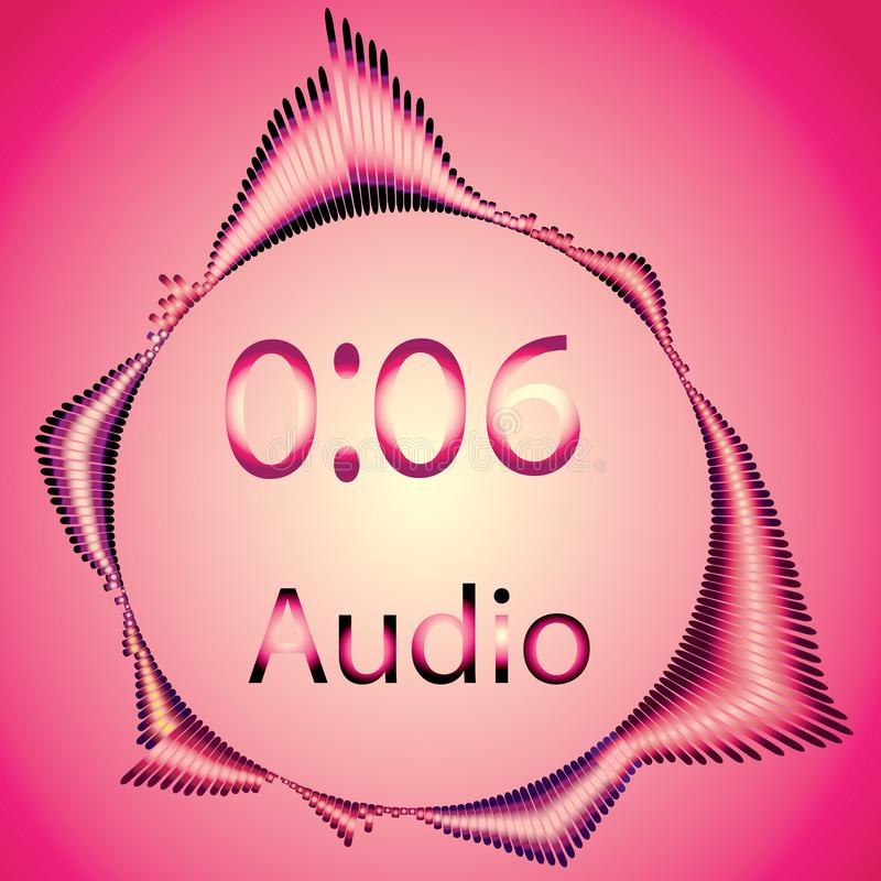 Pink colors, audio music royalty free illustration