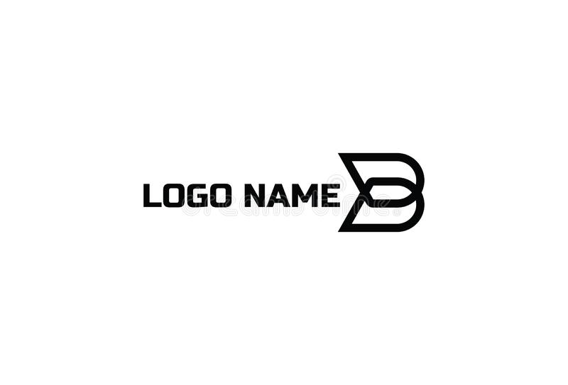 Vector B logo design stock illustration