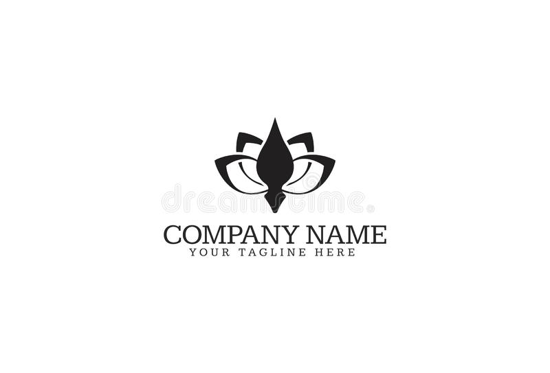 Vector Illustration Of Flower Logo Design royalty free illustration