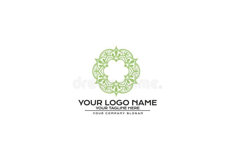 Vector illustration of green color flower mandala vector illustration