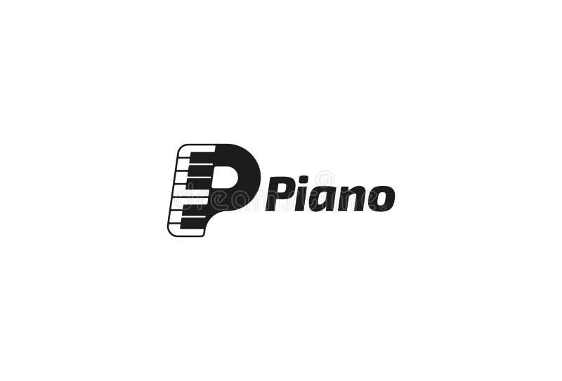 Vector illustration Of Piano Music Logo royalty free illustration