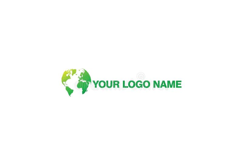 Abstract Green Logo Design Template royalty free illustration