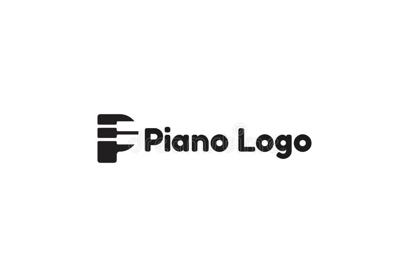 Vector Illustration Of Piano Logo royalty free illustration
