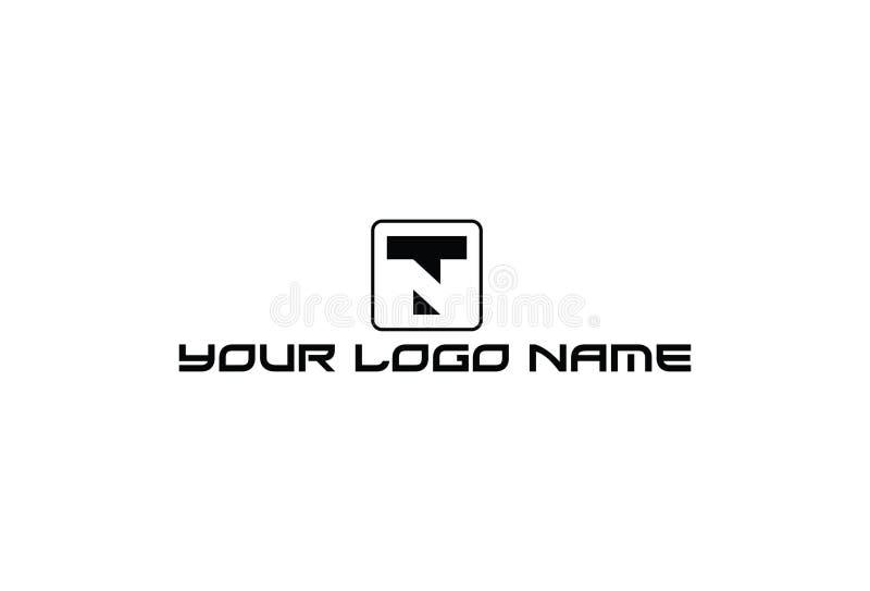 Vector Illustration Of Letter T Logo royalty free illustration