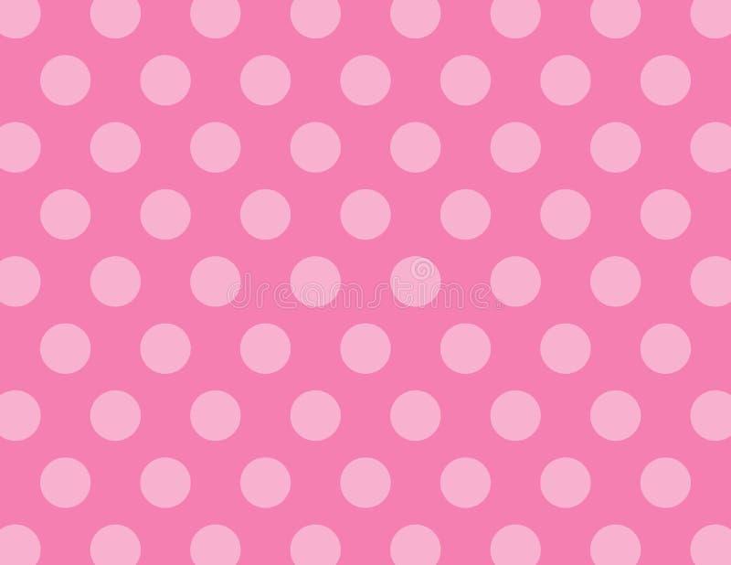 Pink Polka Dots Background. Pink Polka Dots Vector Background royalty free illustration