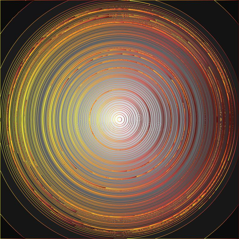 Colorful sharp circles royalty free stock photo