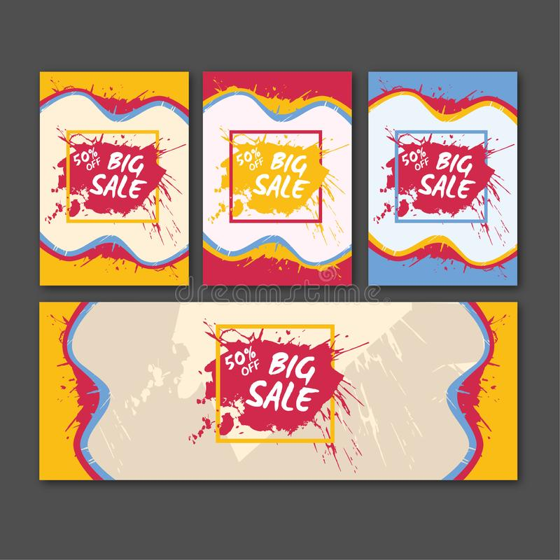 Colorful Story Collection Fashion Sale. Online clothes shopping. Online shopping sites for clothes stock illustration