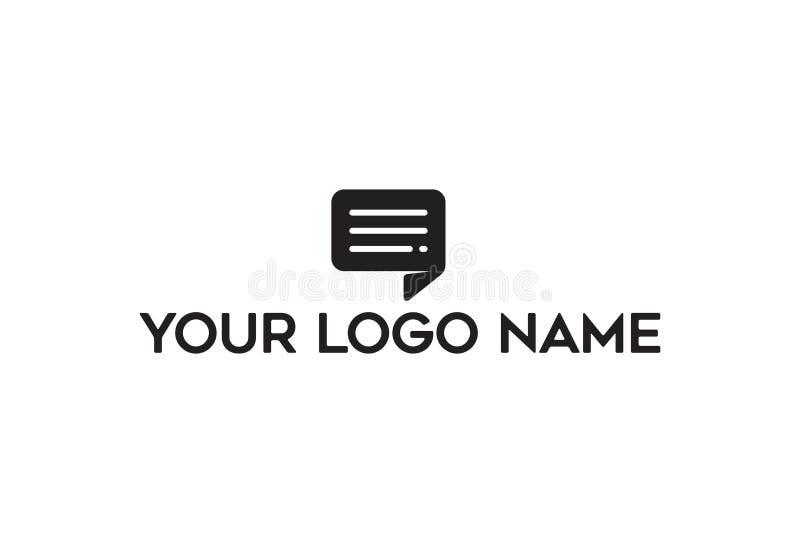 Vector Illustration Of Quote Logo Design royalty free illustration