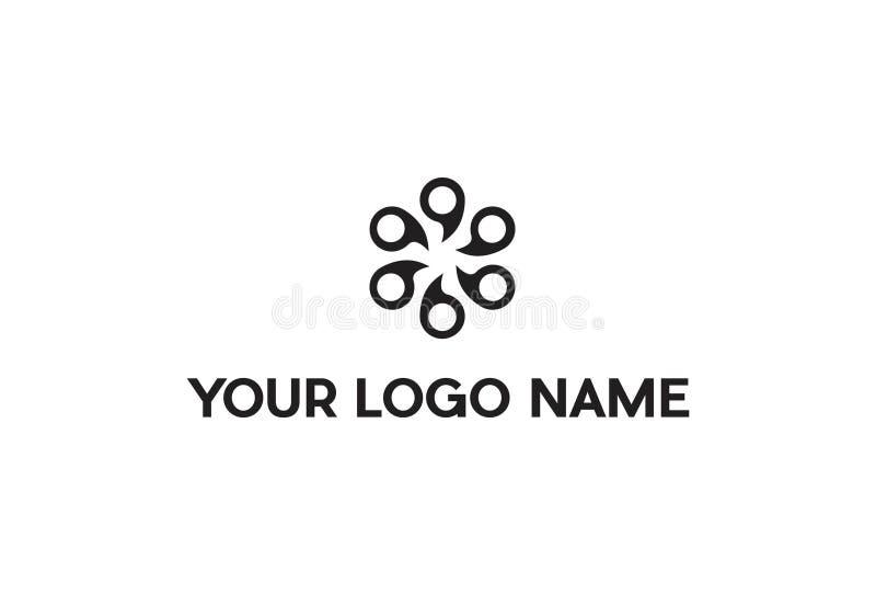 Vector Illustration Of Quote Logo Design stock illustration