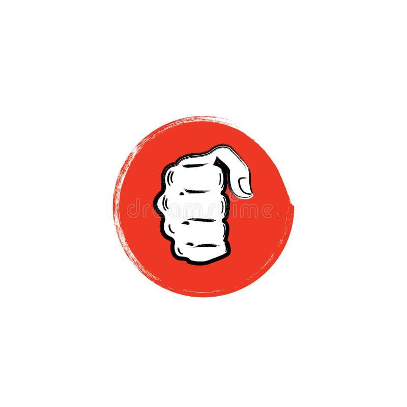 Martial arts vector logo. Martial arts emblem. royalty free illustration