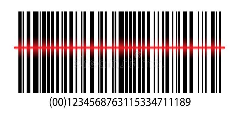 Information UPC Scanner. Digital Reader. Identification Sign. Modern simple flat bar code sign. royalty free illustration