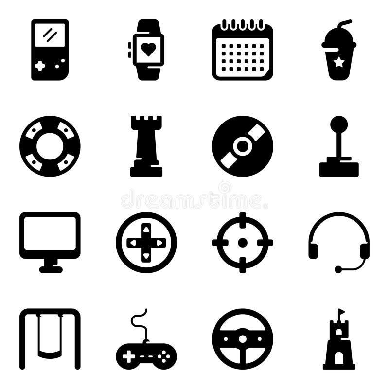 Sports Glyph Icons Set vector illustration