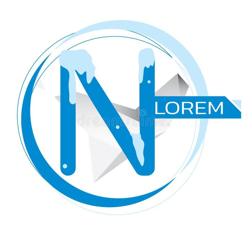 N letter logo design. vector illustration