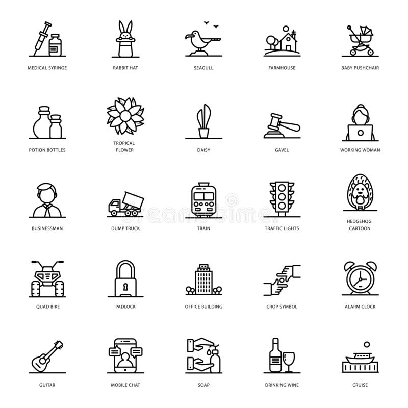 Line Icons Pack vector illustration