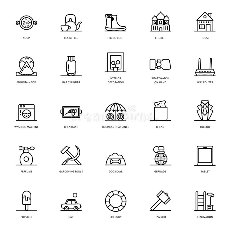 Food Line Icons Pack vector illustration