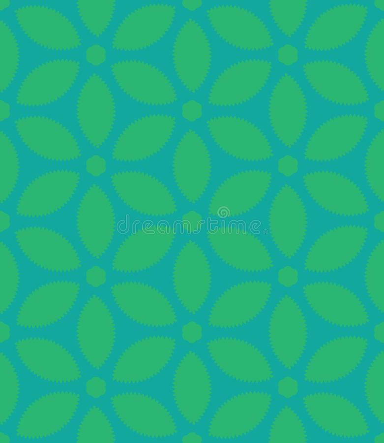 Seamless Repeat Serrated 5-Petal Floral Pattern royalty free stock image