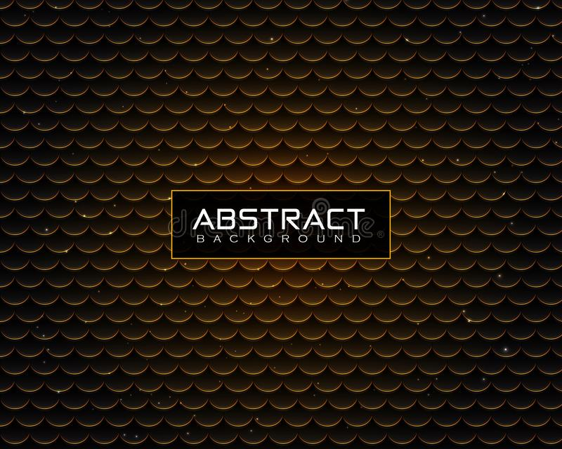 Abstract luxury Background pattern with shiny golden dots royalty free illustration