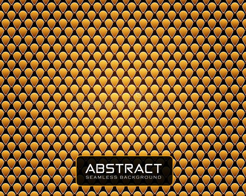 Golden geometrical background with High detail texture stock illustration