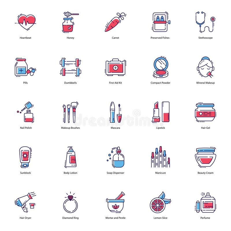 Health, Beauty, Spa Icons Pack. Here we have health, beauty, and spa icons pack for you to use in your designing assignments. Download this editable stroke royalty free illustration