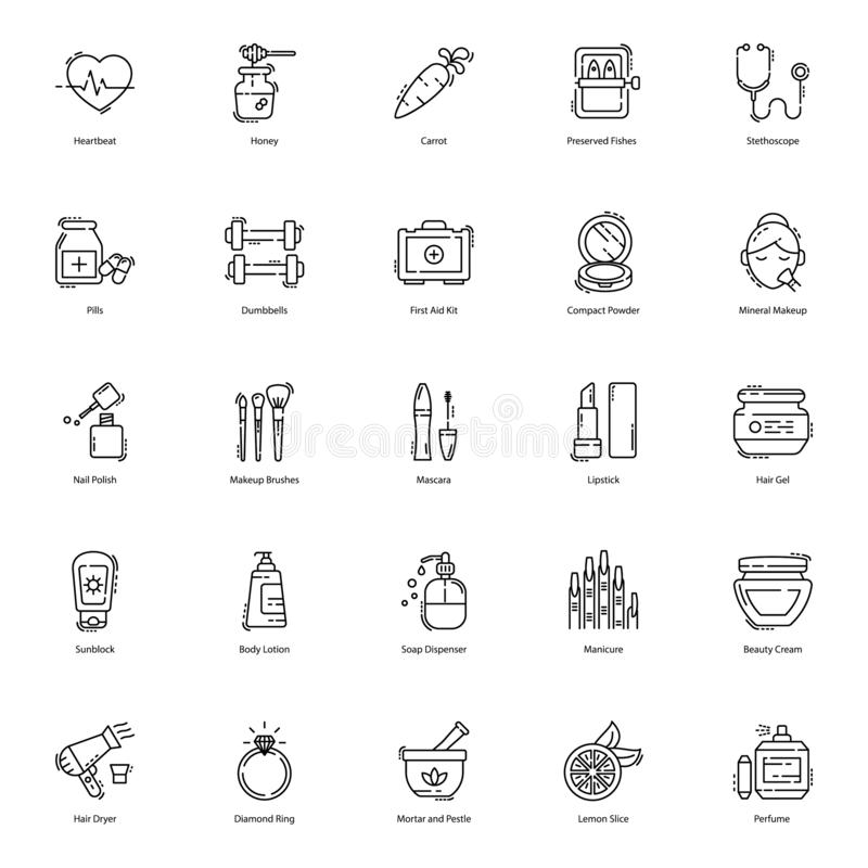 Health, Beauty, Spa Icons Pack. Here we have health, beauty, and spa icons pack for you to use in your designing assignments. Download this editable stroke vector illustration