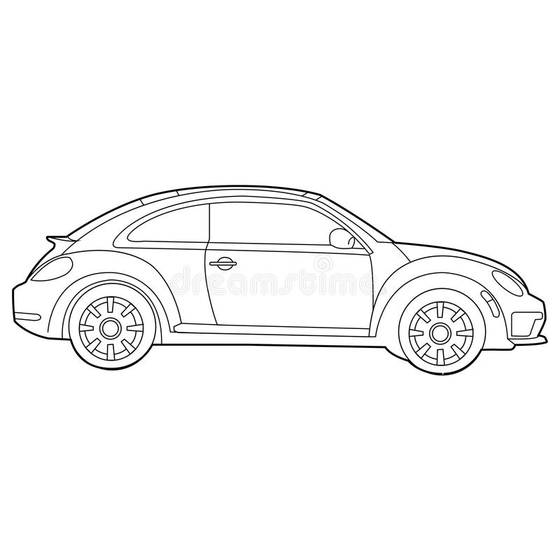 The classic car is a very popular with beautiful design, smart, funny drive, art, comfort and high technology, elegant, full funct royalty free illustration