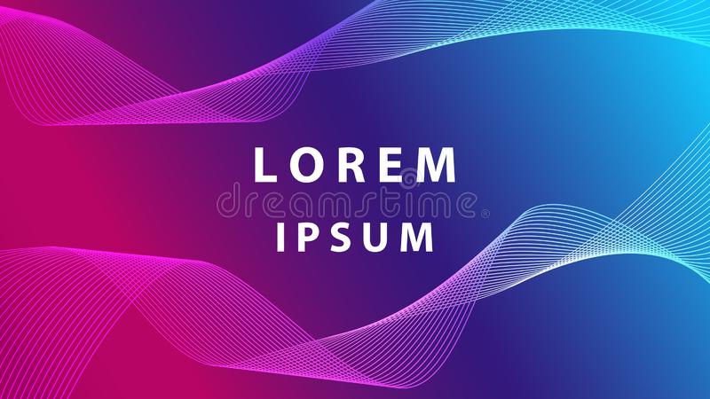 Curve and square design. Modern shape and colorful for future background stock photos