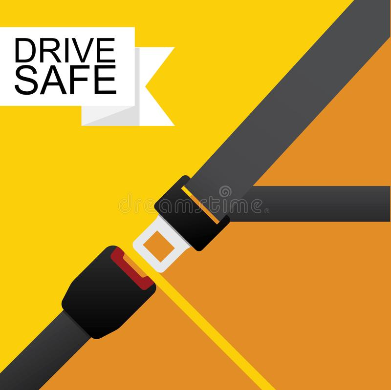 Safety belt icon. Safety belt icon vector flat design royalty free illustration