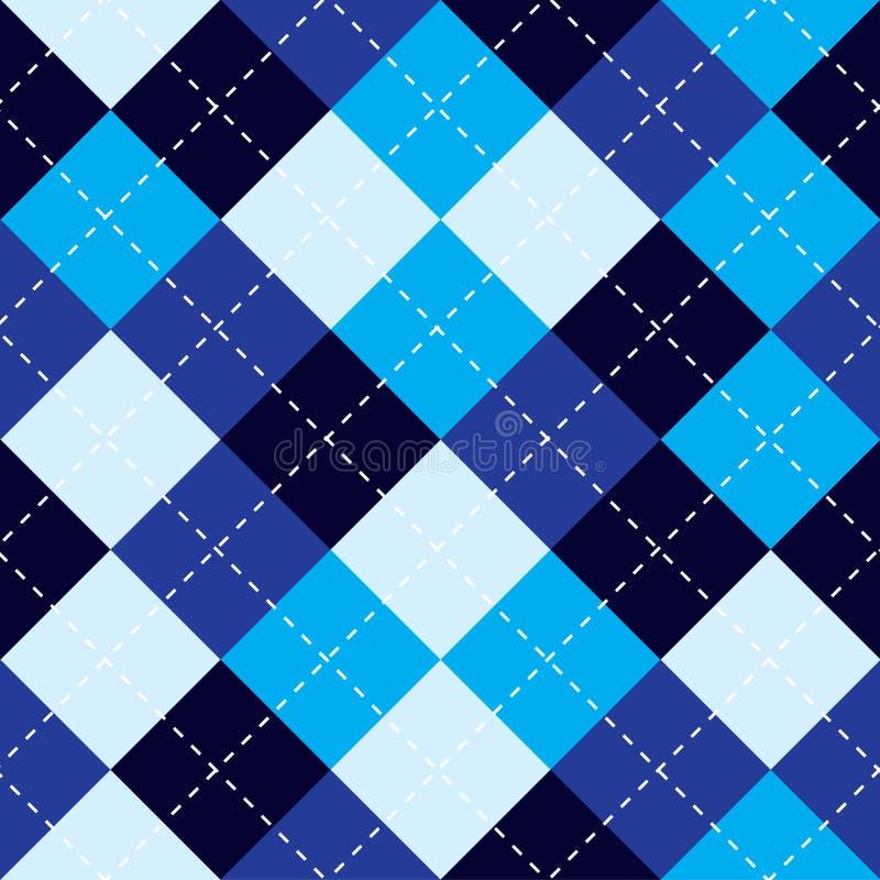 Argyle Pattern Blue. Argyle Plaid Pattern. royalty free illustration