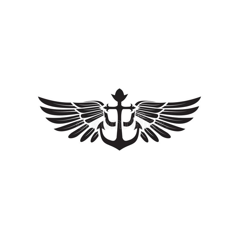 Anchor logo icon design inspiration vector template. With isolated background stock illustration