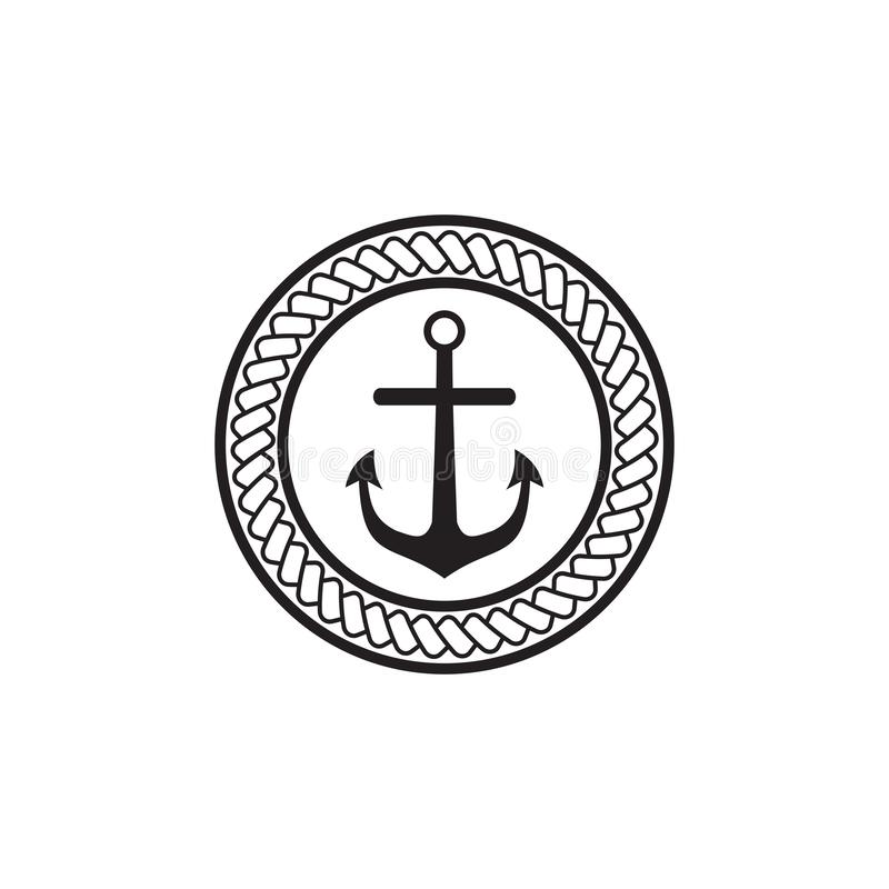 Anchor logo icon design inspiration vector template. With isolated background vector illustration