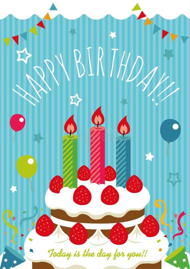 Birthday card /invitation,greeting etc. Birthday cake illustration. Birthday card /invitation,greeting etc. Birthday cake vector illustration royalty free illustration