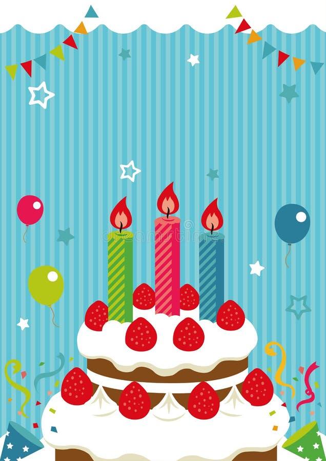 Birthday card /invitation,greeting etc. Birthday cake illustration. No text. Birthday card /invitation,greeting etc. Birthday cake vector illustration. No text stock illustration