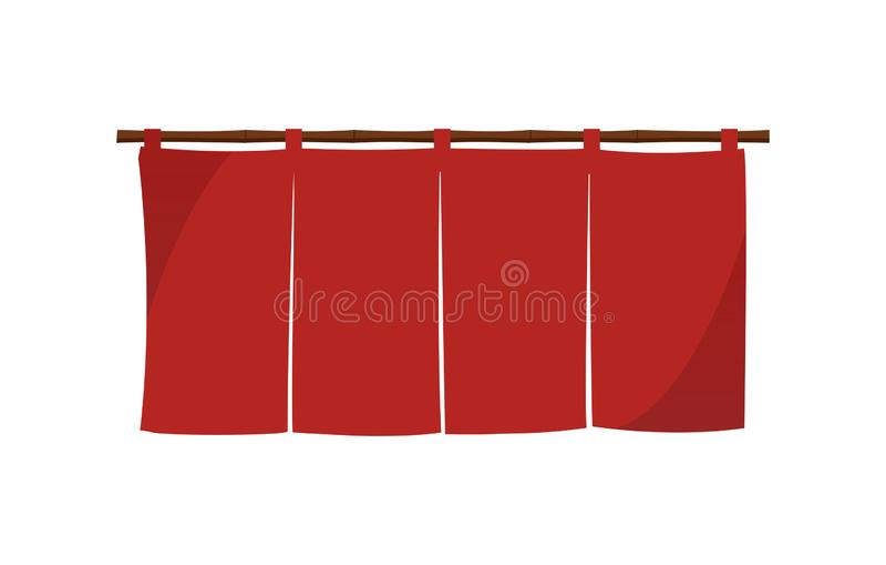 Japanese store curtain illustration. Japanese store curtain vector illustration royalty free illustration