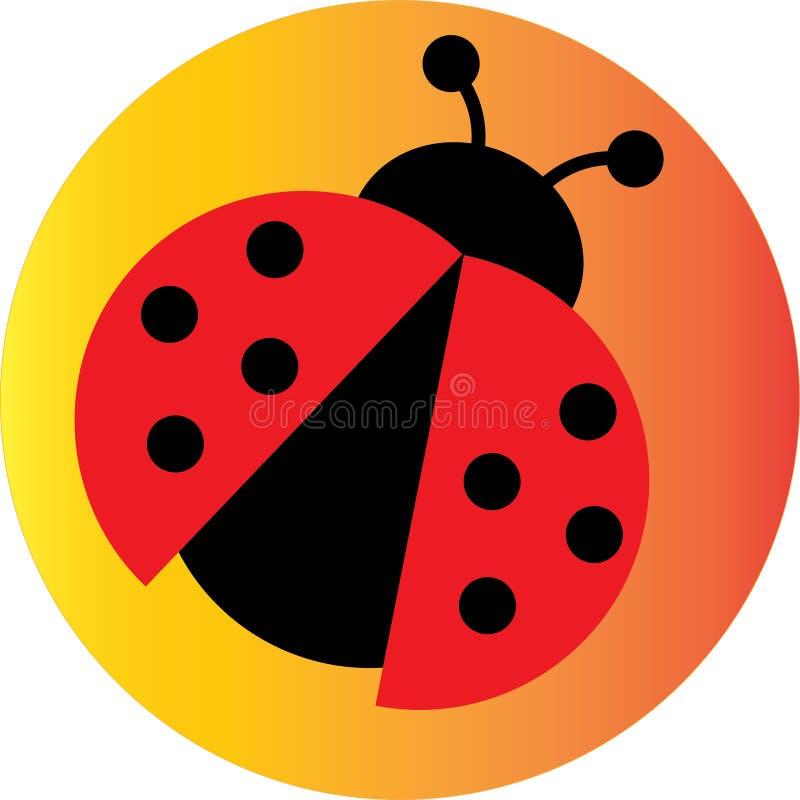 Beetle or LadyBug illustration Icon or Logo.  stock illustration