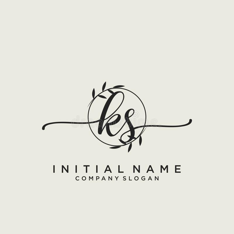 Ks Letter Initial Beauty Monogram And Elegant Logo Design Handwriting Logo Of Initial Signature Wedding Fashion Floral And Bot Stock Vector Illustration Of Modern Elegant 161097503